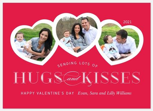 Heart Trio Valentine Photo Cards