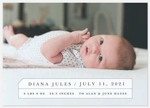 Classic Charm Baby Birth Announcements