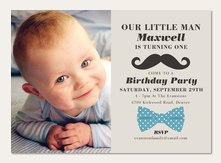 Boy Birthday Party Invitations - Little Man
