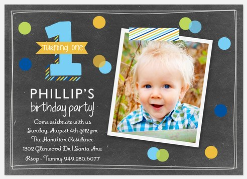 One to Remember  Kids' Birthday Invitations