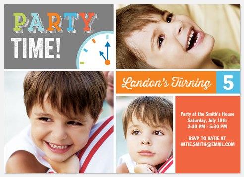 It's That Time! Kids' Birthday Invitations