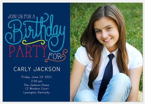 Festive Type Kids' Birthday Invitations