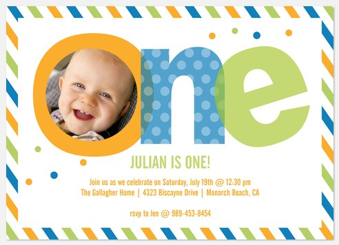 Colorful Fun Kids' Birthday Invitations