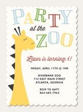 Photo Boy Birthday Invitations - Go Wild