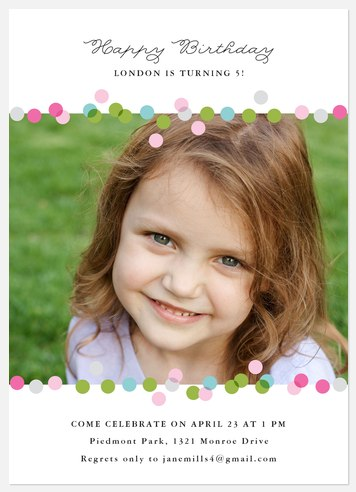 Confetti Birthday Kids' Birthday Invitations