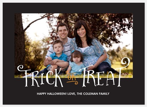 Spooky Treat Halloween Photo Cards