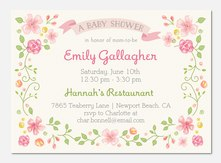 Floral Framed -  Baby Shower Invites
