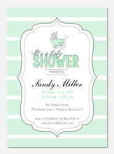 Baby Shower Invites - Striped Shower