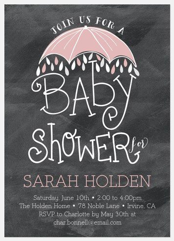 Charming Darling Baby Shower Invitations