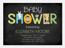 Cute & Cuddly -  Baby Shower Invites