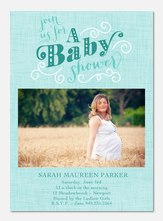 Rustic Shower - Baby Shower Invitations
