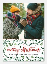 Painted Greenery -  Christmas cards