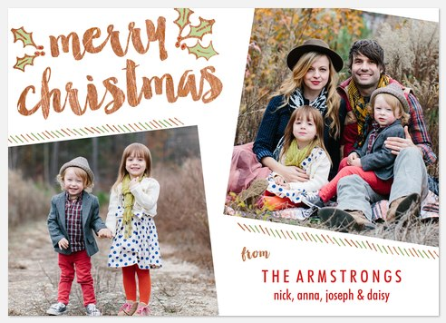 Christmas Merriment Holiday Photo Cards