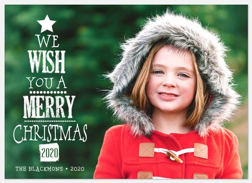 Lettered Tree Holiday Photo Cards