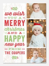 photo Christmas cards - Country Rustic