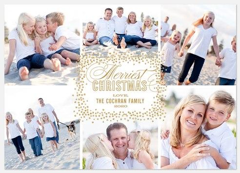 Burst of Bling Holiday Photo Cards