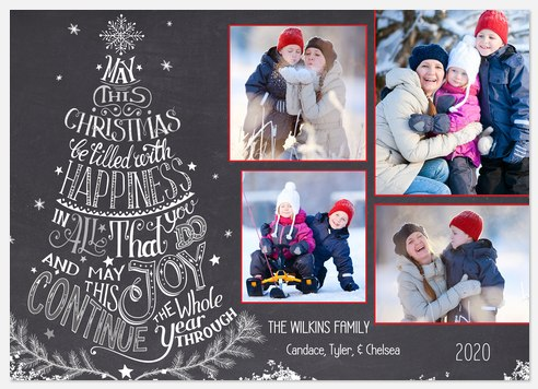 Merry Tree Holiday Photo Cards