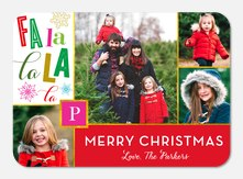 Festive Fa La La - photo Christmas cards
