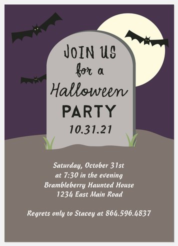 Spooky Graveyard  Halloween Photo Cards
