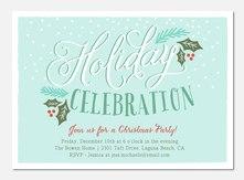 Snowfall Whimsy  - Holiday Party Invitations