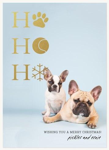 dog christmas cards ho ho howl