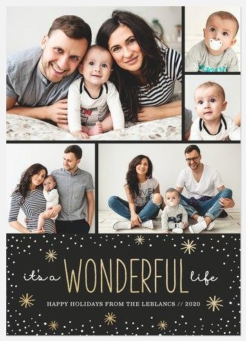 Snowfall Wonder  Holiday Photo Cards