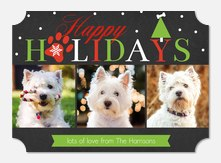 Pet Christmas Card - Holiday Pup