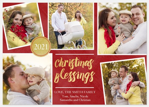 Radiant Blessings Holiday Photo Cards