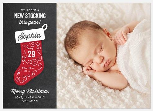 New Stocking  Holiday Photo Cards