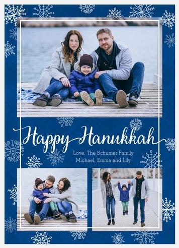 Snowfall  Hanukkah Photo Cards