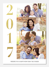 new years photo cards - New Year Fireworks