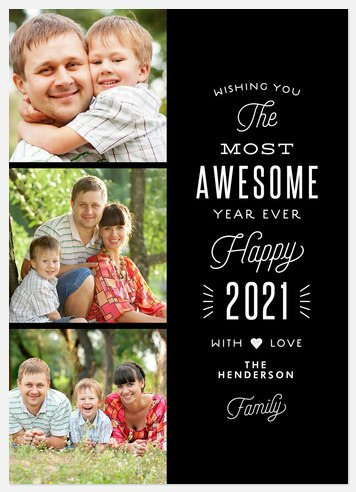 Awesome Year Holiday Photo Cards