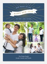 Glimmer & Glow - new years photo cards