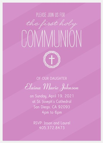 Her Blessings First Communion Invitations