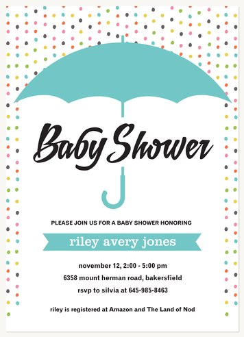 Baby Boy Shower Invitations Baby Shower Invitatio Colorful Sprinkle