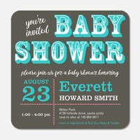 Stylish Saloon  -  Baby Shower Invites