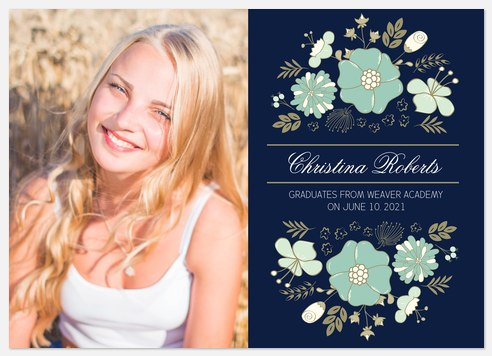 Woodland Florets Graduation Cards