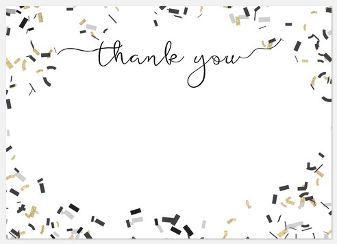 Popped Confetti Thank You Cards