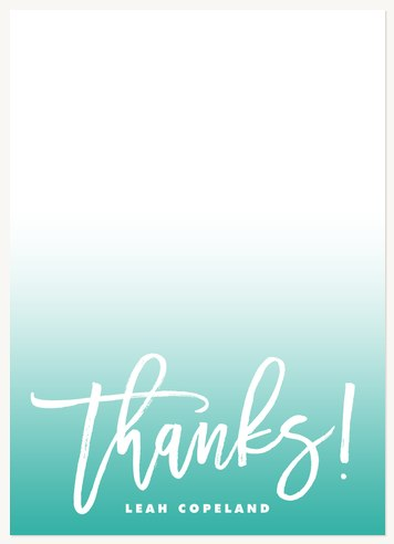 Ombre Fade Thank You Cards