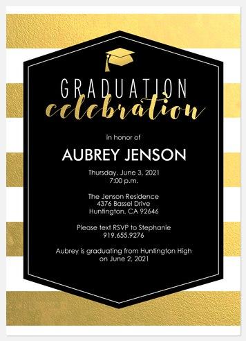Charming Shimmer Graduation Cards