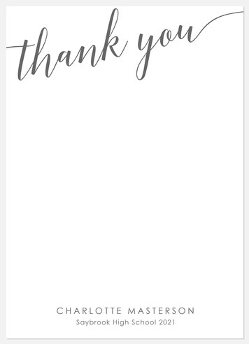 Happy-Go-Lucky Thank You Cards