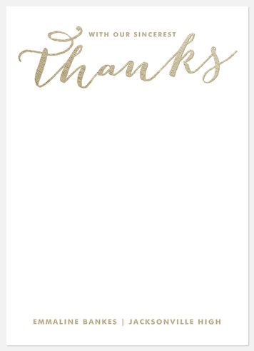 Iridescent Elegance Thank You Cards