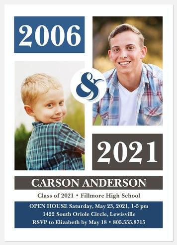 Mod Color-Block Graduation Cards