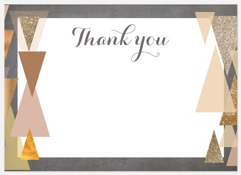 Glitter Geo Thank You Cards