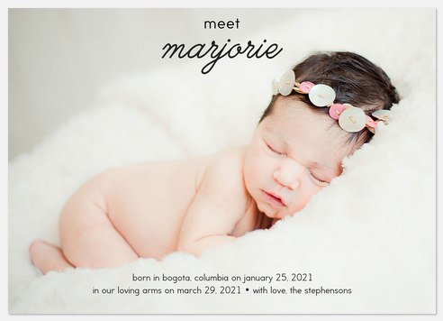 Sweet Arrival Baby Birth Announcements
