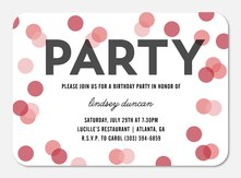 Confetti Cheer - Photo Birthday Invitations
