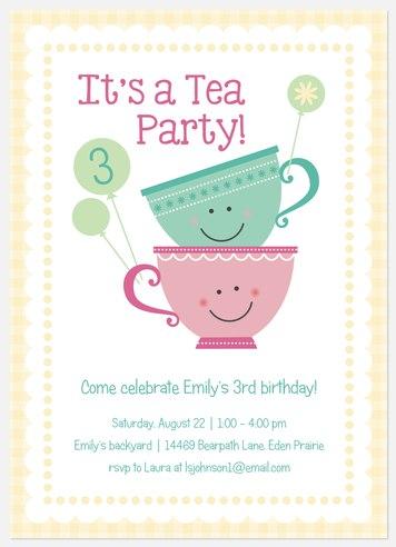 Cream & Sugar Kids' Birthday Invitations
