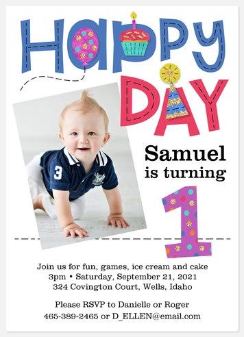Birthday Patch Kids' Birthday Invitations