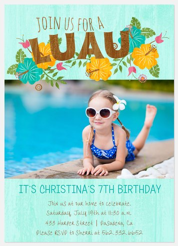 Tropical Oasis Kids' Birthday Invitations