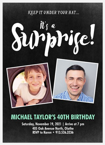Special Surprise Adult Birthday Invitations